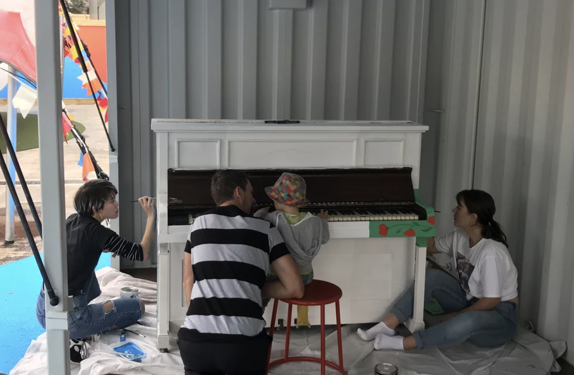 Public piano turns heads in Takapuna