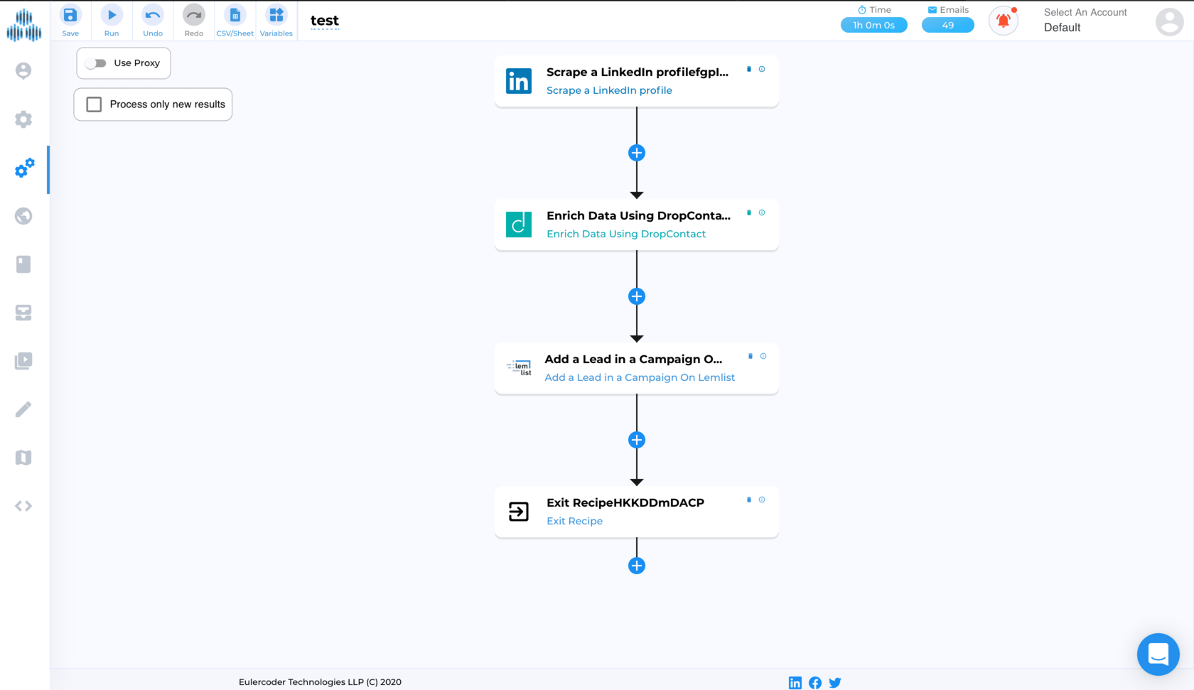 TexAu - LinkedIn automation et multi canal : Cold Email