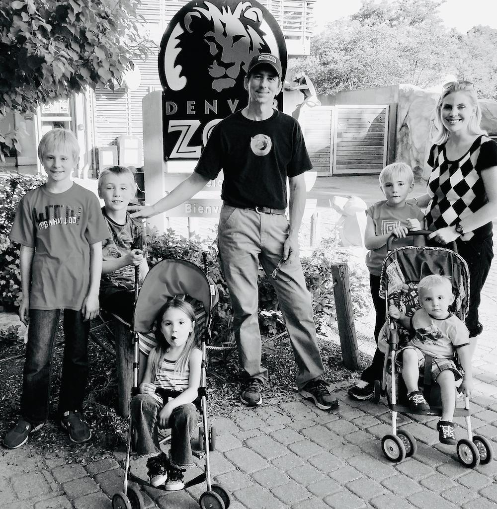 Justin Hackett and his family.