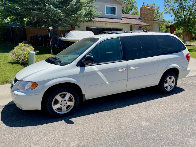 2004 Dodge Grand Caravan for sale by owner. Features the much appreciated stow-away seating. This vehicle has always had regular engine oil and filter changes, and it does not burn oil. It is priced below book value because the following items are recommended to need repaired: water-pump replacement, A/C system service, EGR valve replacement, window switch replacement, worn and sticky sliding doors. Estimated cost of repairs unknown. Shipping not included. Buyer must pick up this item at the seller's address. Contact us to get more information or to arrange a test-drive of the vehicle.