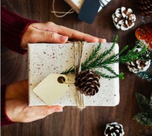 Weihnachtsgeschenk-Karton-Idee
