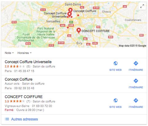 Récupérer fiche Google My Business 2