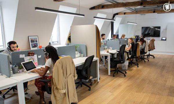 La partie service client et commerciaux internes des bureaux