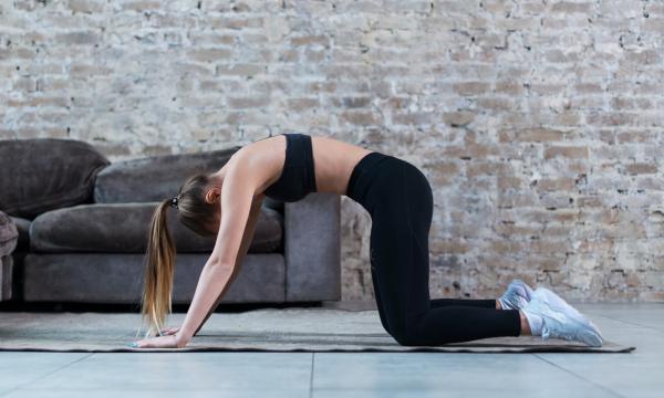 posture du chat yoga