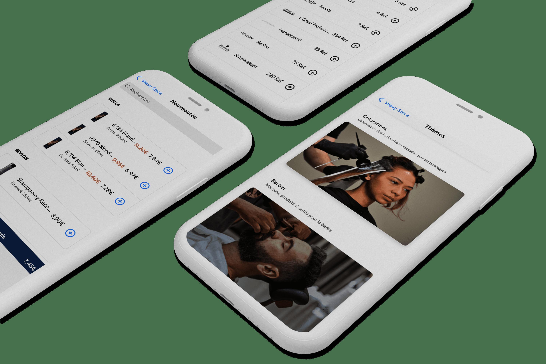 Commandez vos produits professionnels sur Wavy Store depuis votre mobile