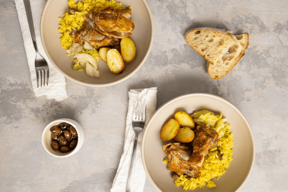 Roasted Goat With Saffron Rice Recipe