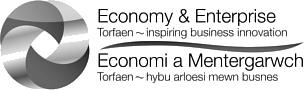 torfaen economy and enterprise logo