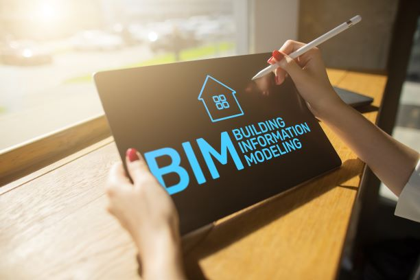 Tablet with BIM written on it