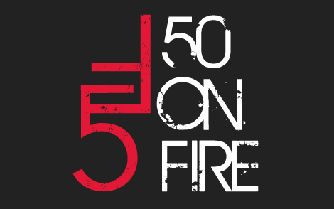50 On Fire graphic logo