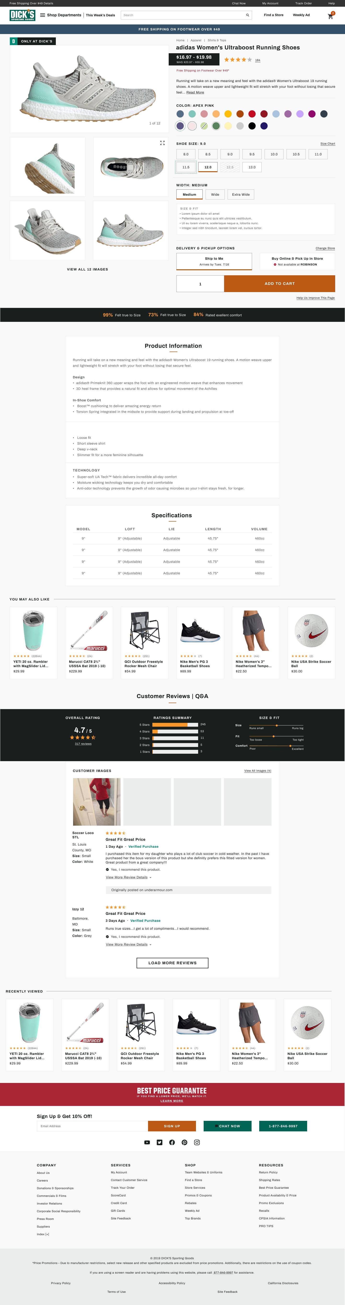 Product Details Page Final Desktop Design