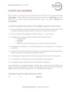 Confidentiality Charter Example | France Executive Circle