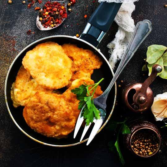 Golden Cooked 200g Chicken Schnitzel