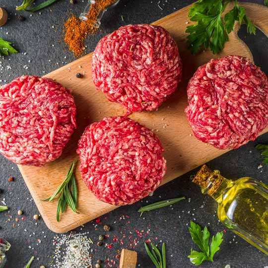 Beef Patties - Now available from our online butchery