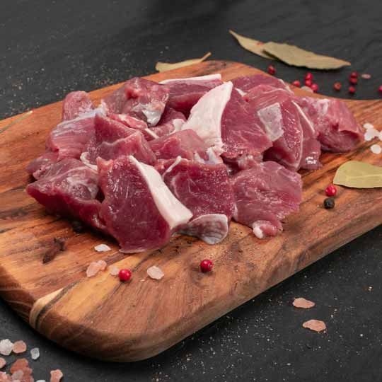 Diced Lamb - Great for skewer sticks, slow cooks and curries. Click and collect or home deliver.