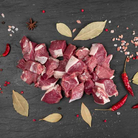 Diced Goat - Great great for skewers and curries.