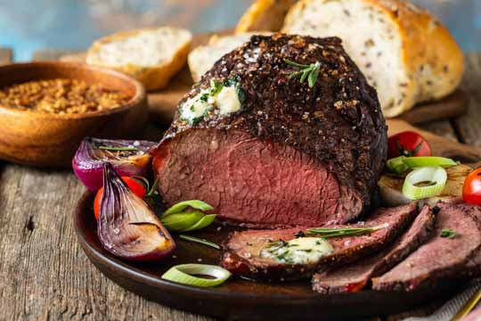 ROAST BEEF WITH SEEDED MUSTARD