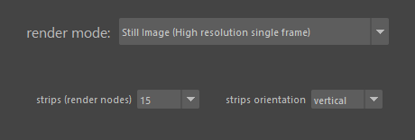 "Settings for ""Still image"" mode"