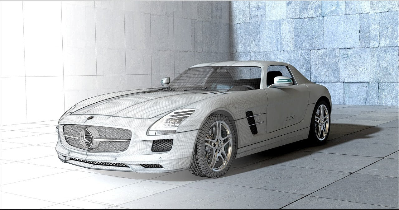 3D rendered car