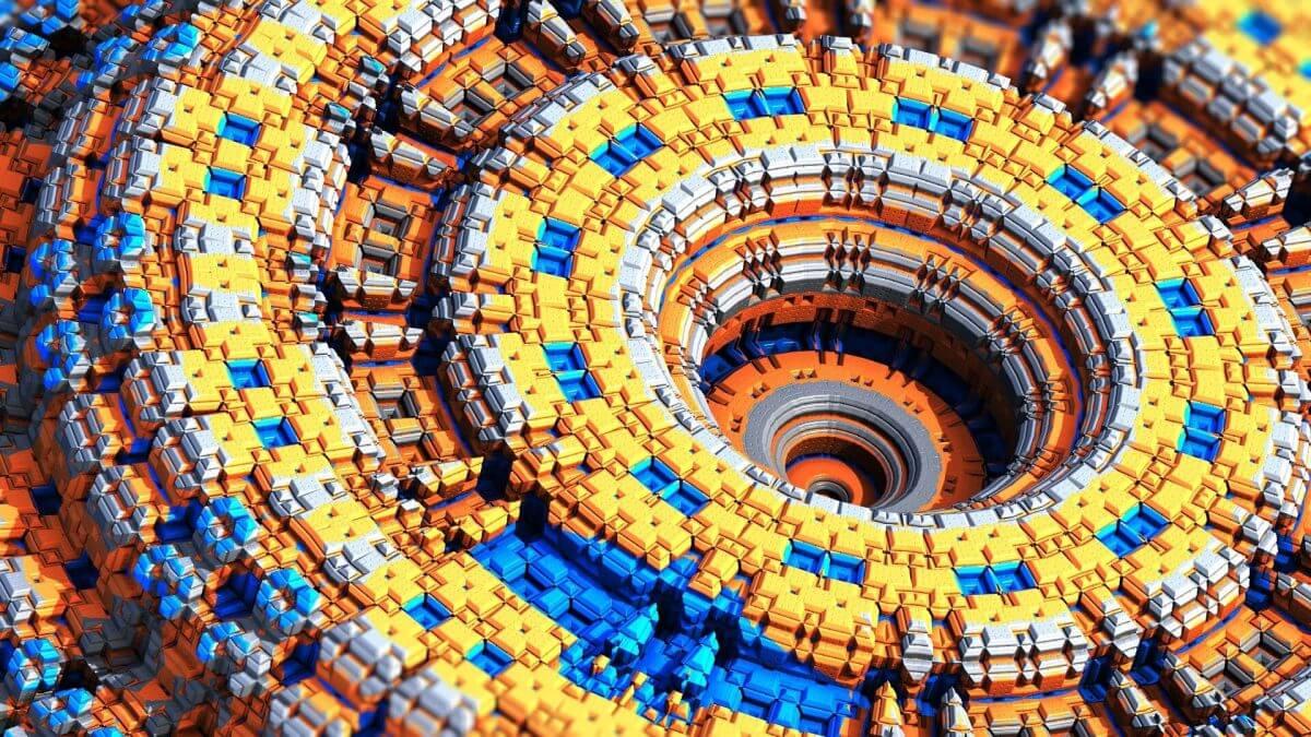 3d rendered fractal image