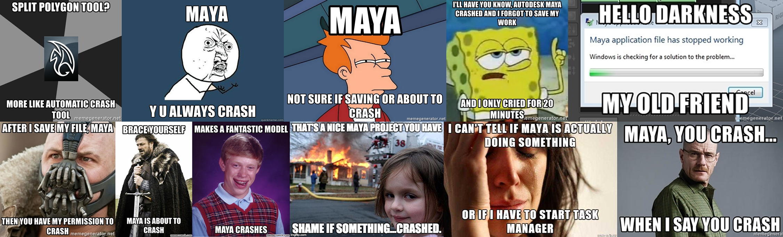 set of memes about Maya's app