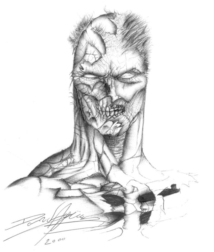 David Aguero drawing using Bic Biro Pen