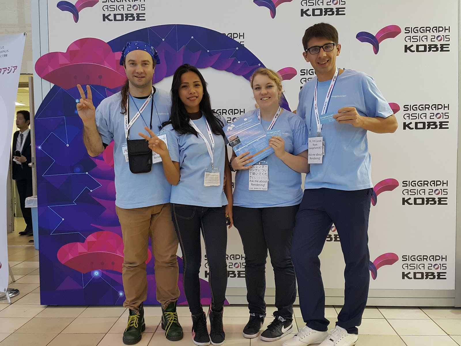 Lucas with our delegation to Siggraph Asia 2015