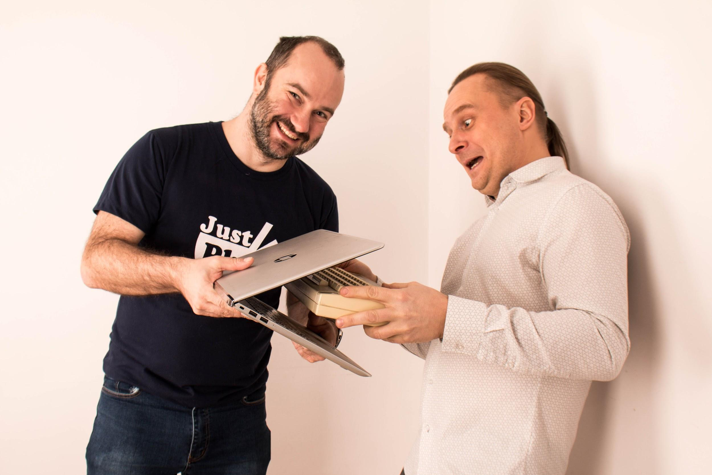 Tomek our CEO and Domel, our IT software manager