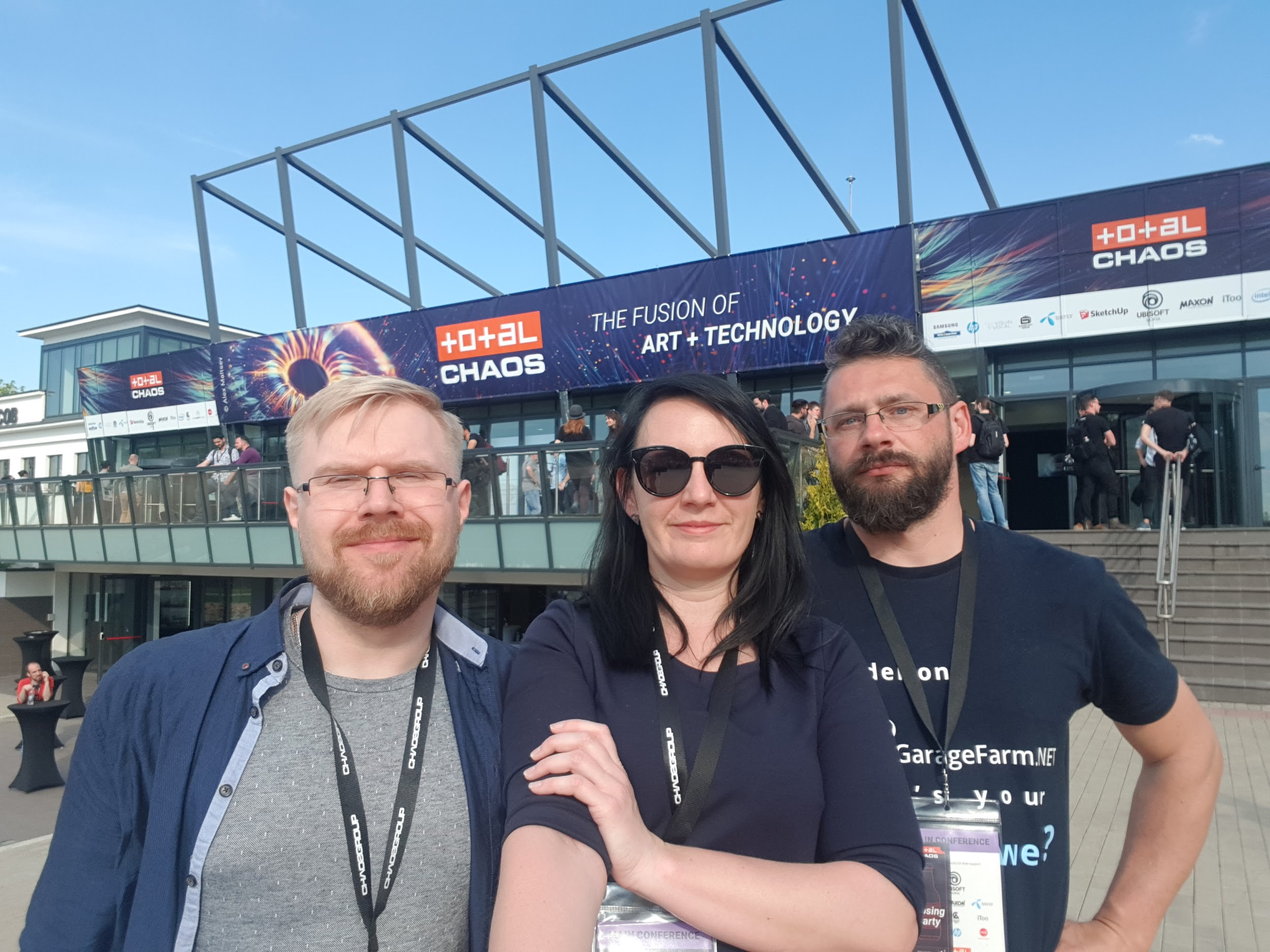Martin, Kate and Michal at Total Chaos 2019