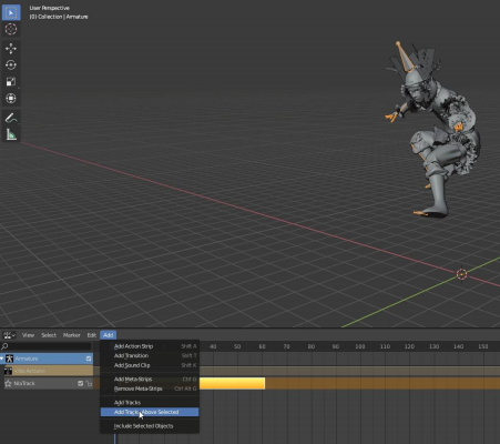 add to one of the fbx armatures imported