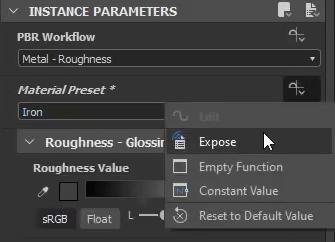 Exposing Parameters