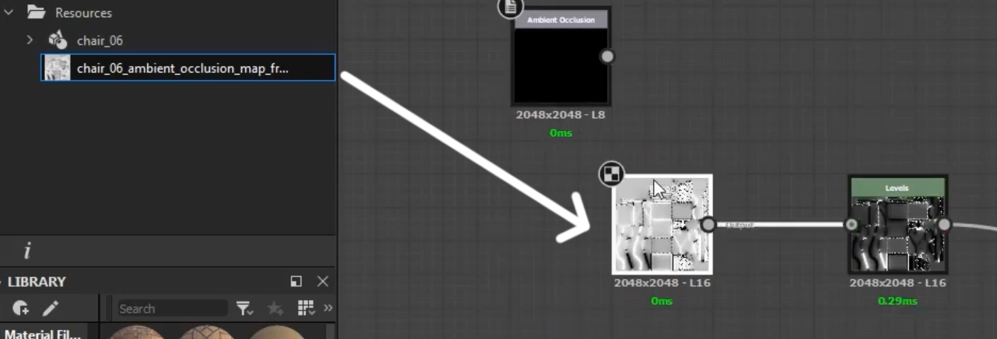 maps you baked for your mesh and export that material