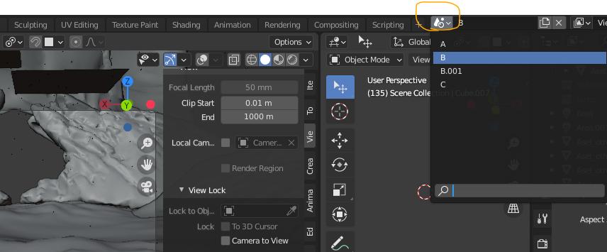 Using Blender Scenes- Switch
