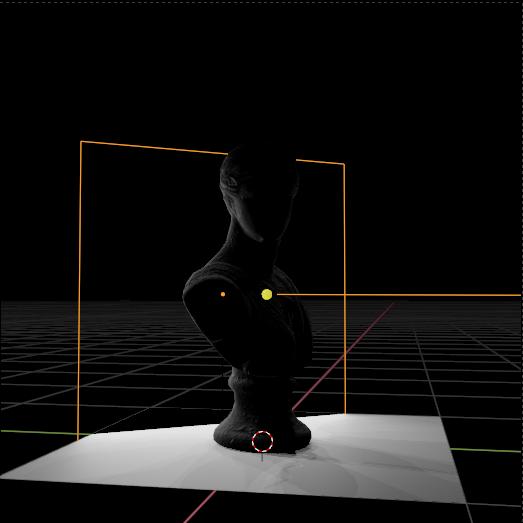 A kicker backlight in a render