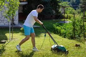 Mowing the whole lawn