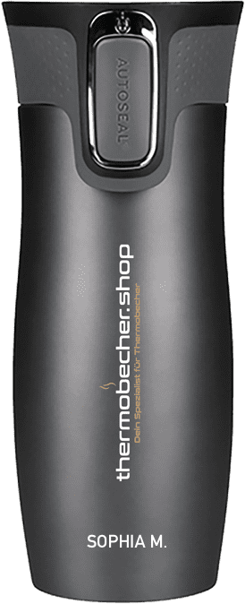 Contigo West Loop mit Lasergravur Logo und Name Thermobecher