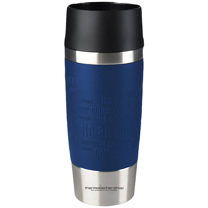 Thermobecher Emsa Travel Mug 360ml Blau mit Logo Gravur