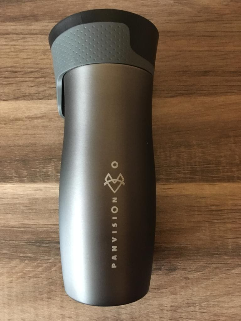Contigo West Loop Gunmetall mit Logo