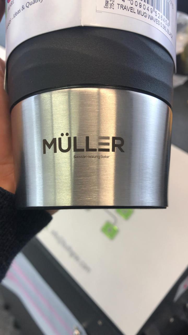 Emsa Travel Mug 360ml graviert mit Schriftzug für Mitarbeiter und Kunden