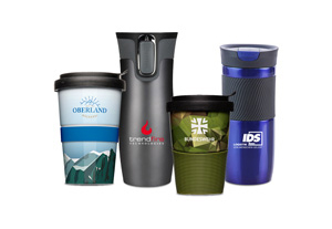 Kaffeebecher mit Logodruck Firmenlogo Kundenlogo bedruckt