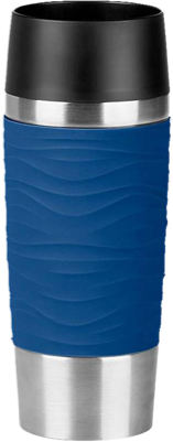 Emsa Travel Mug 360ml, Waves Farbe blau