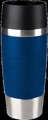 Emsa Travel Mug 360ml, Typo Farbe blau
