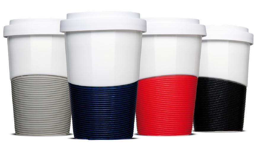 Coffee2Go Becher Mehrwegbecher Porzellan Keramik bedrucken Firmenlogo