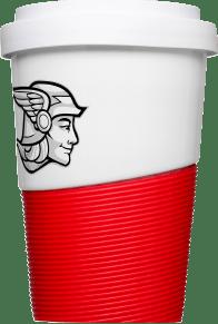 Porzellan Kaffeebecher mit Logo Werbemittel