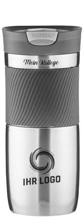 Hochwertiger Thermobecher bedruckt. Nachhaltiger Isolierbecher von Contigo. Modell Contigo Byron. 100% dicht und auslaufsicher.