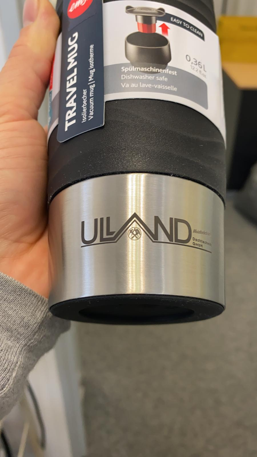 Emsa Travel Mug schwarz mit Lasergravur Logo