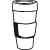 icon Kaffeebecher Größe 360ml 500ml