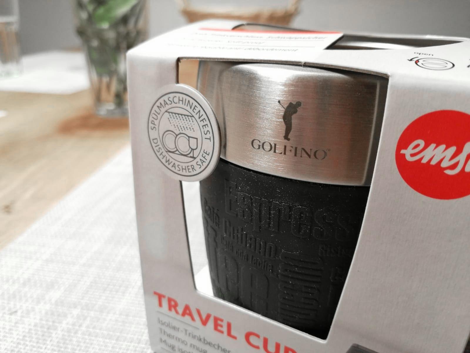 Travel Cup bedruckt mit Logo für Kunden