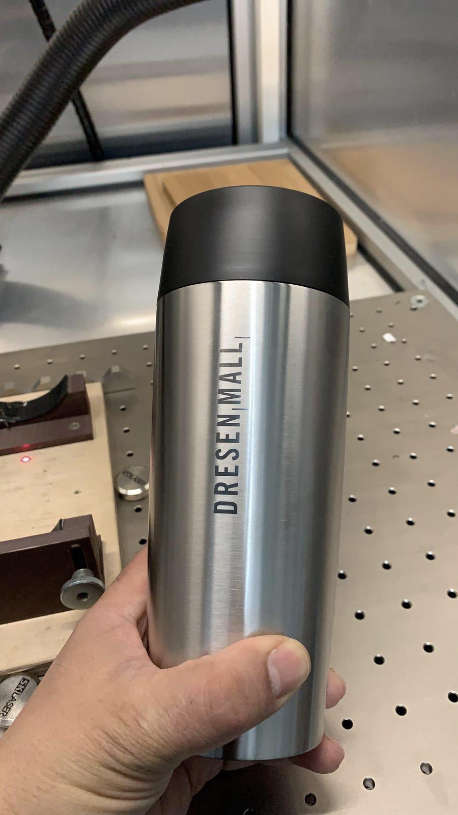 Travel Mug Edelstahl mit Logo graviert