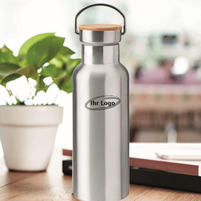 Trinkflasche aus Edelstahl mit Ihrem Logobranding graviert oder bedruckt