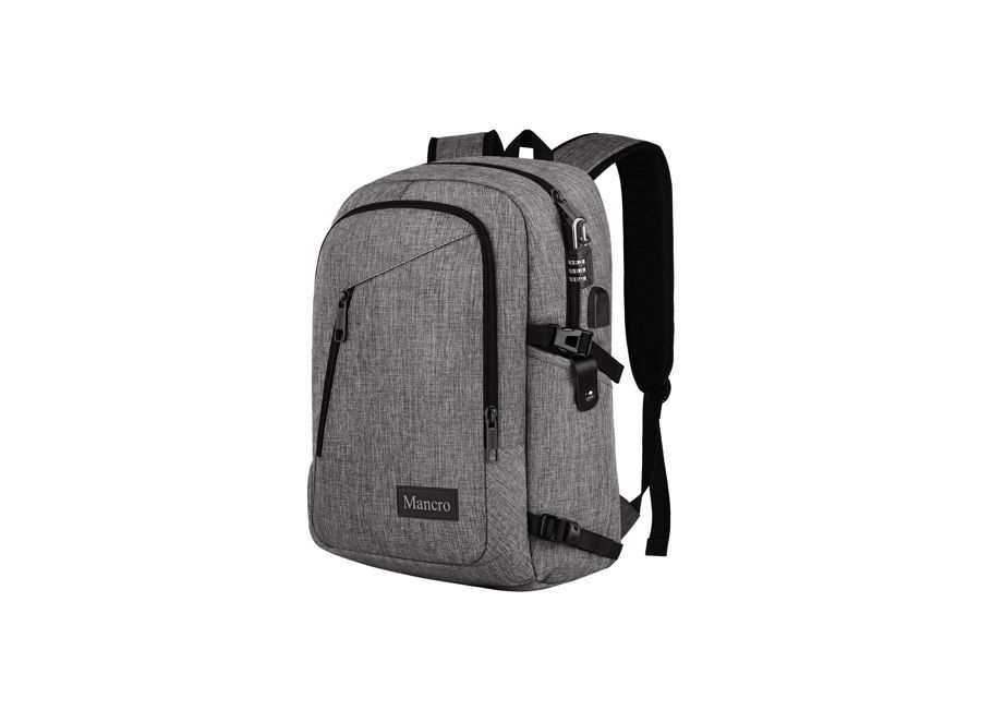 Mancro Unisex Laptop Backpack gray